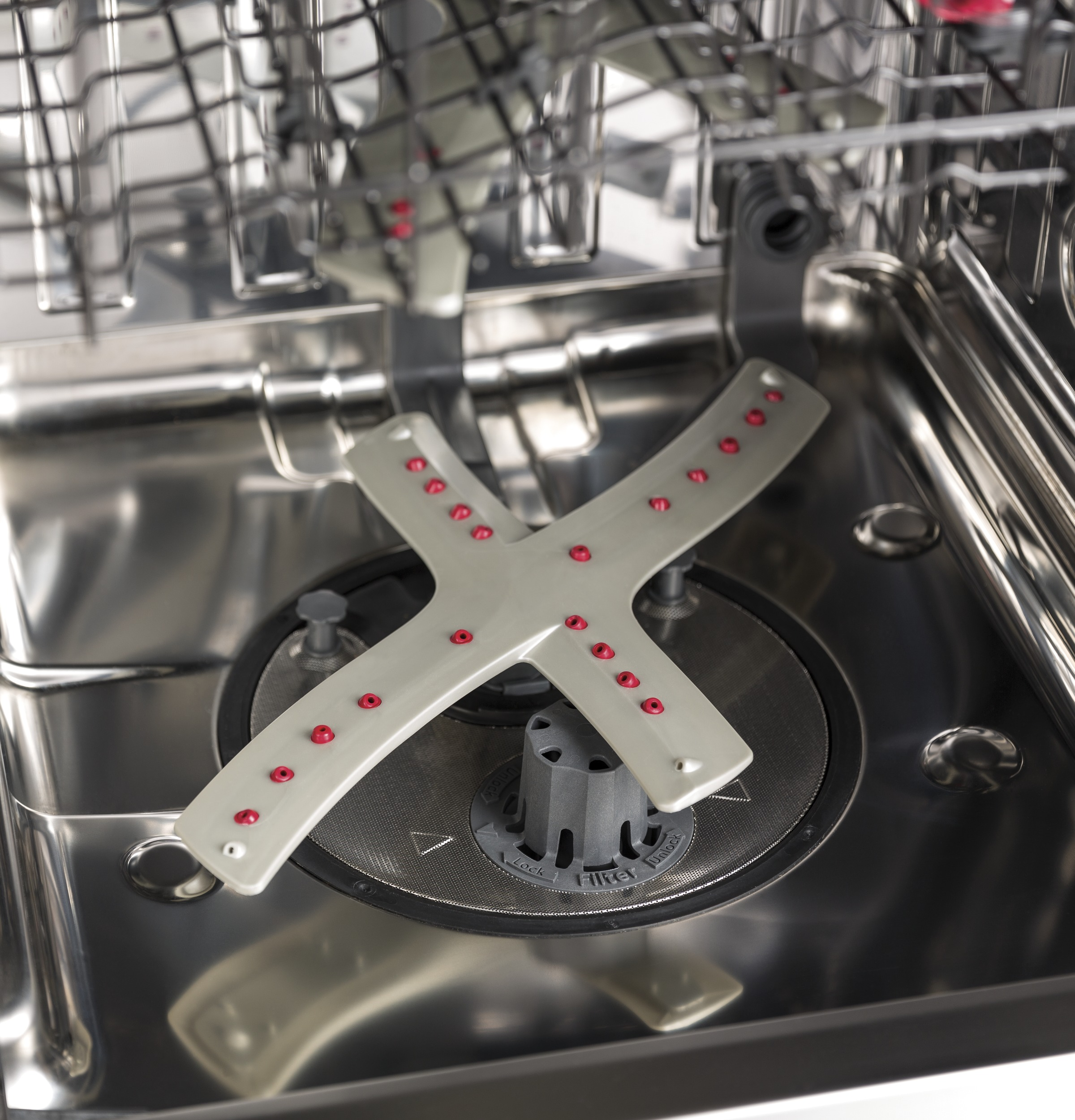 GE Profile™ Stainless Steel Interior Dishwasher with Hidden Controls on