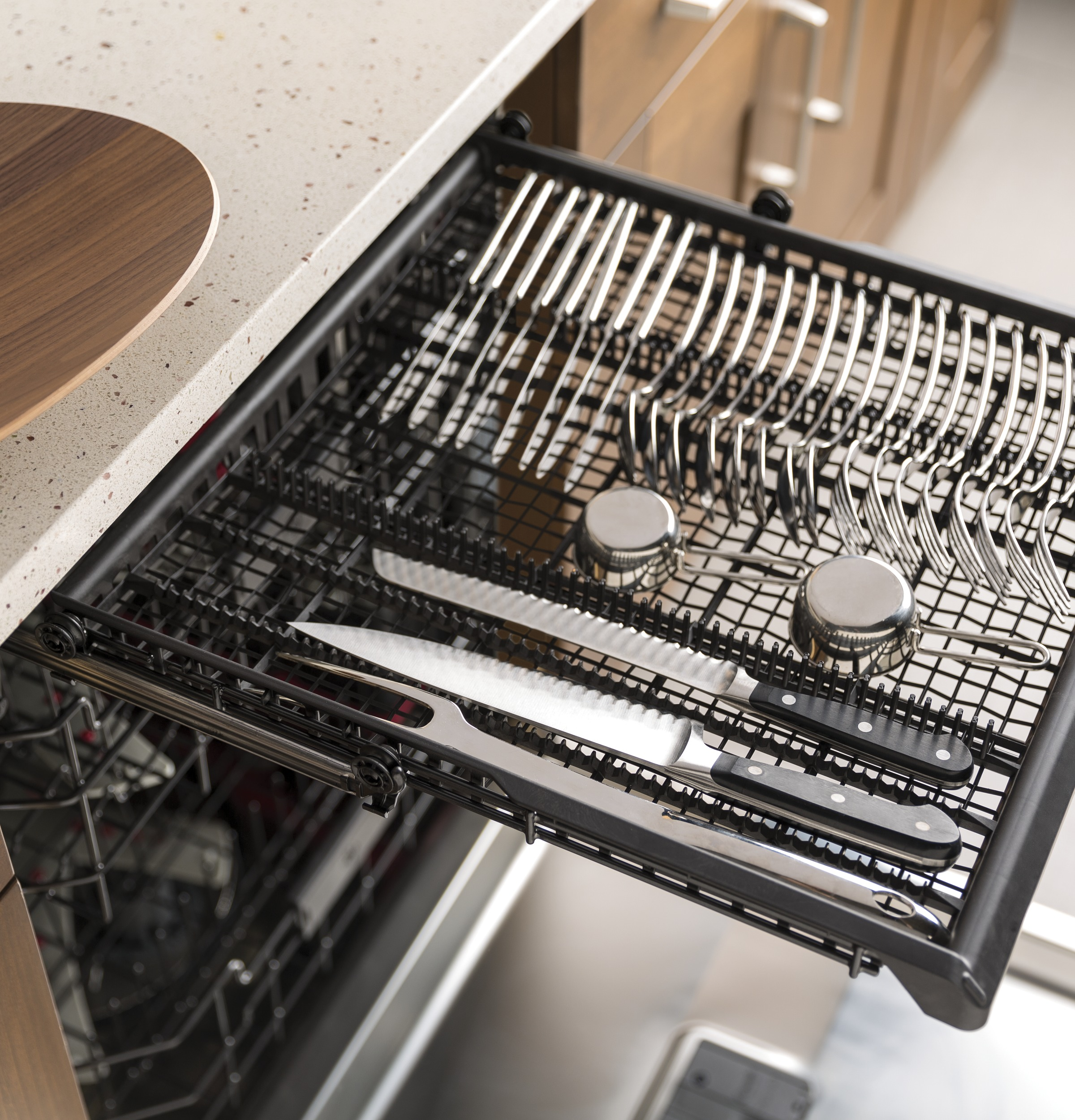 GE Café™ Series Stainless Interior Built-In Dishwasher with Hidden Controls