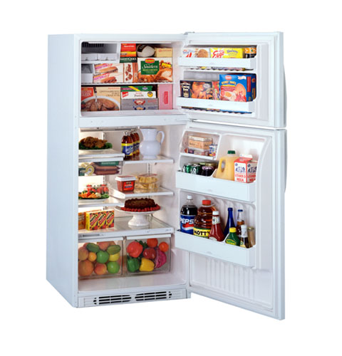 ge® j series 18 2 cu ft top mount no frost refrigerator product image product image