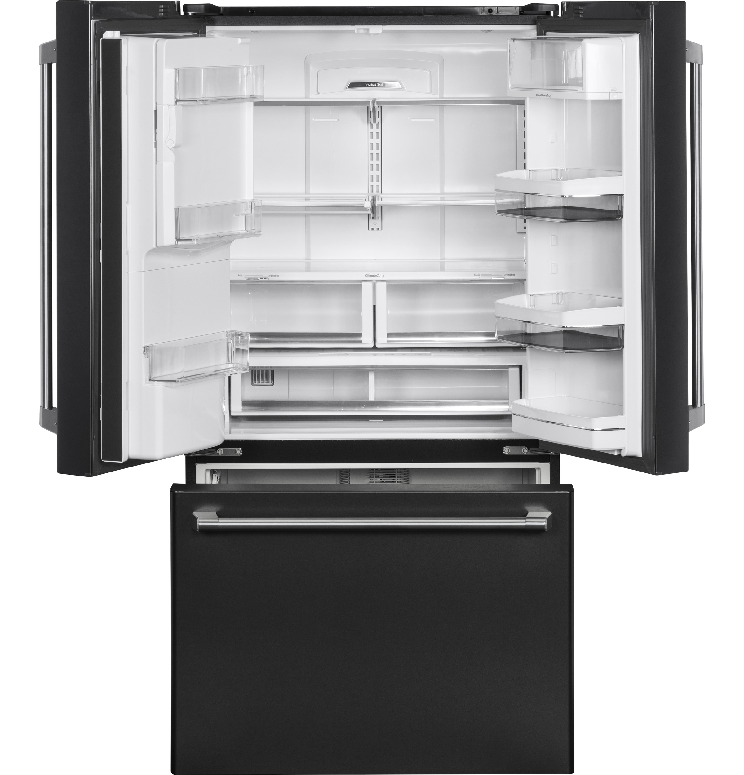Model: CYE22UELDS | GE Café™ Series ENERGY STAR® 22.2 Cu. Ft. Counter-Depth French-Door Refrigerator with Keurig® K-Cup® Brewing System
