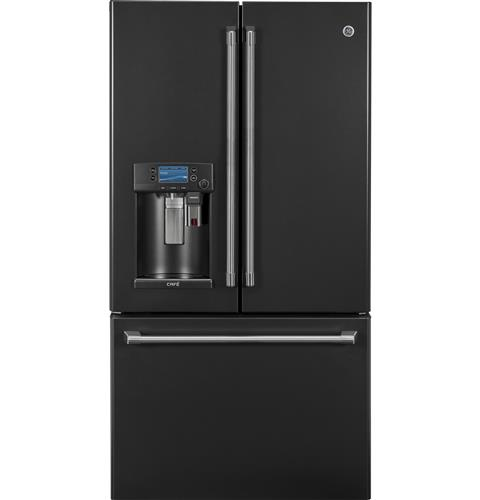 GE Café™ Series ENERGY STAR® 22.2 Cu. Ft. Counter-Depth French-Door Refrigerator with Keurig® K-Cup® Brewing System– Model #: CYE22UELDS