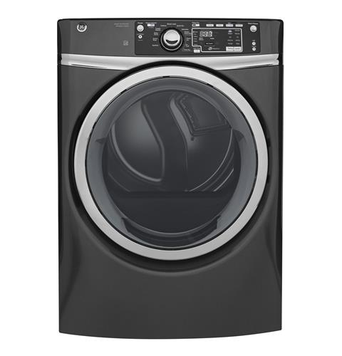 GE® 8.3 cu. ft. capacity Front Load gas ENERGY STAR® dryer with steam– Model #: GFD48GSPKDG