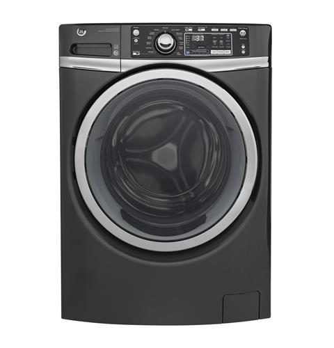 GE® 4.9 DOE cu. ft. Capacity Front Load ENERGY STAR® Washer with Steam– Model #: GFW480SPKDG