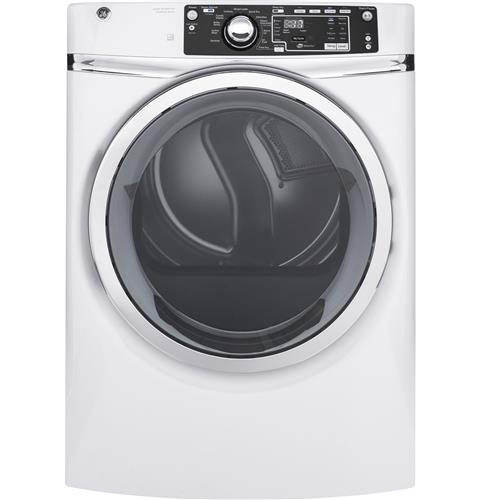 GE® 8.3 cu. ft. capacity Front Load gas ENERGY STAR® dryer with steam– Model #: GFD48GSSKWW