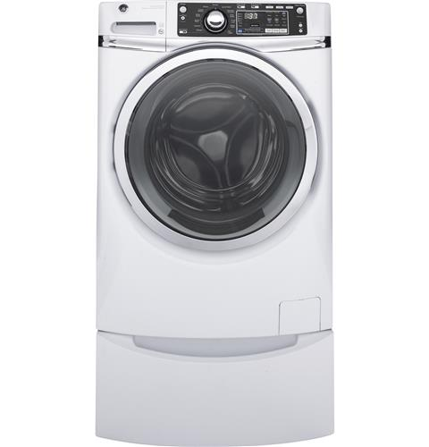 GE® ENERGY STAR® 4.9 DOE cu. ft. capacity Front Load washer with steam– Model #: GFW480SSKWW