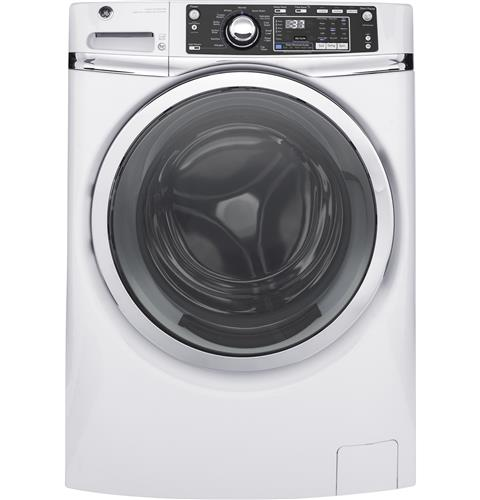 GE® 4.9 DOE cu. ft. Capacity Front Load ENERGY STAR® Washer with Steam– Model #: GFW480SSKWW