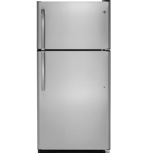 GE® 20.8 Cu. Ft. Top-Freezer Refrigerator– Model #: GTS21FSKSS