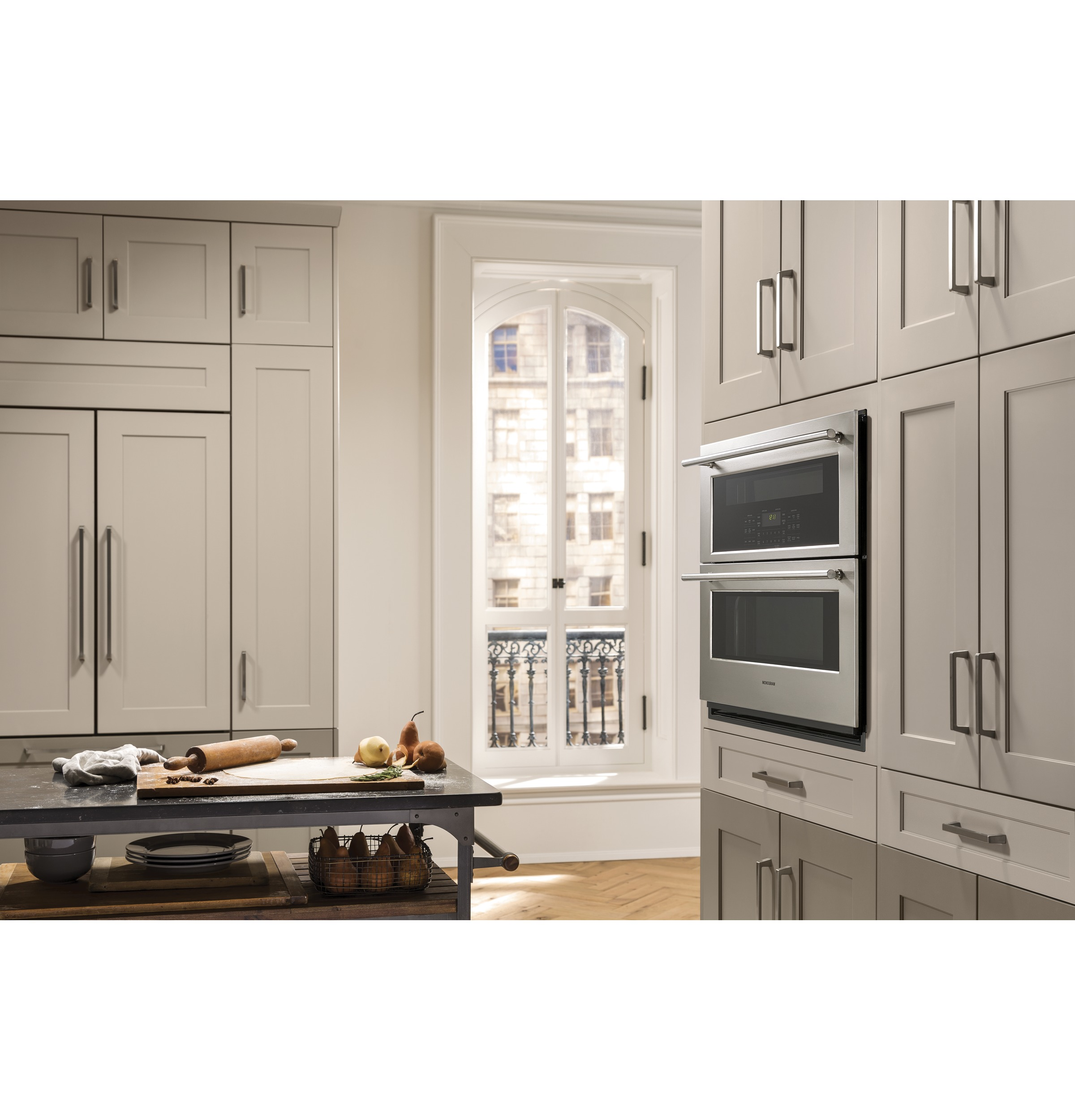 "Hearth Oven: Monogram 30"" Built-In Single/Double Convection Wall Oven"