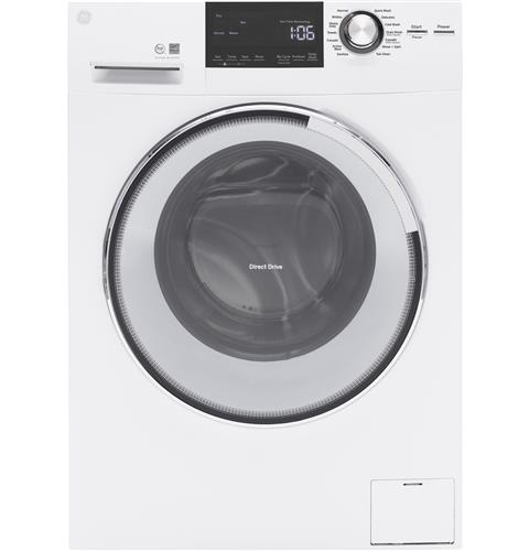 GE® 2.4 DOE Cu. Ft. Frontload Washer with Steam– Model #: GFW148SSLWW
