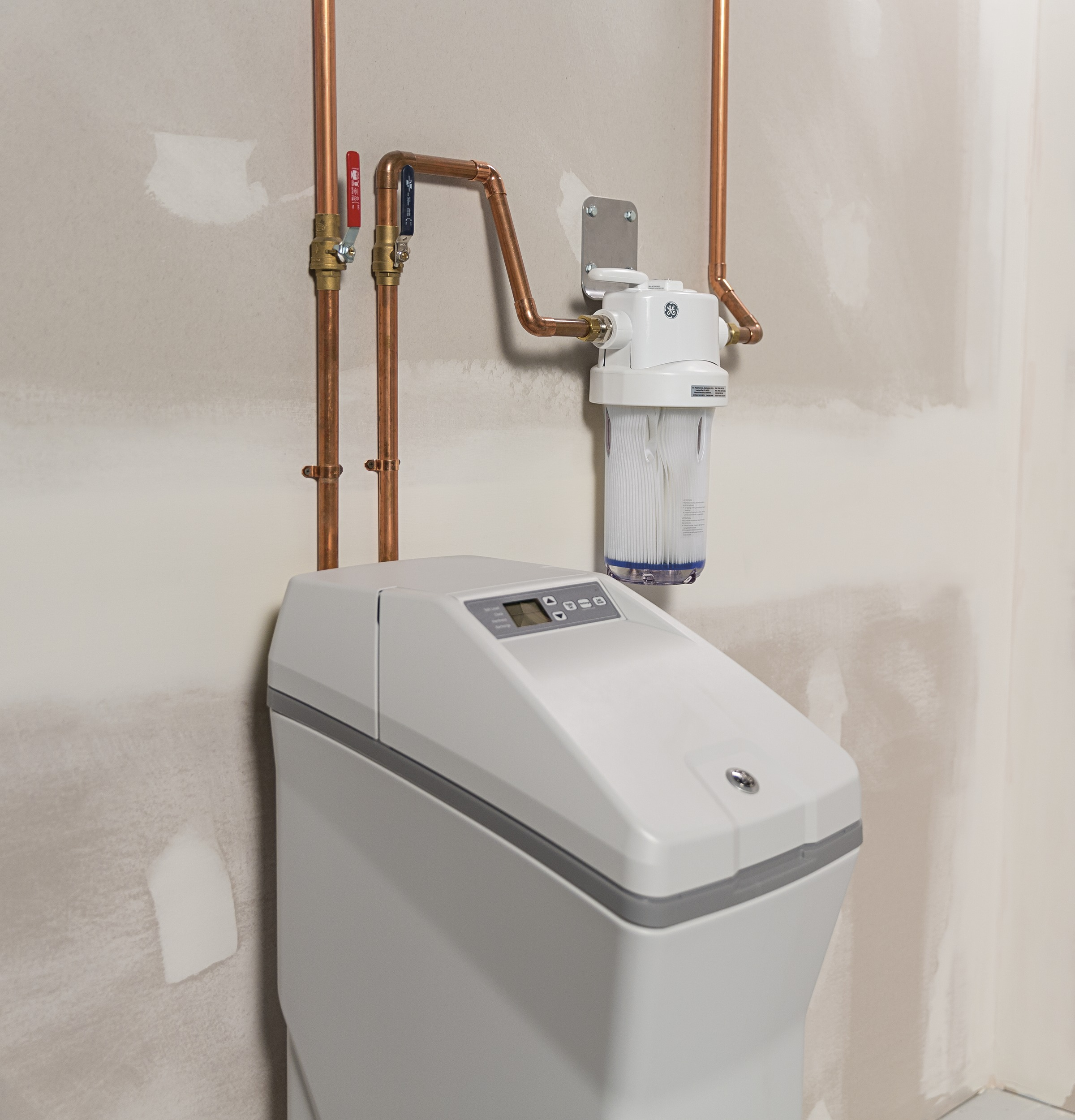 GE GXSH40V Water Softener - In real life from a side