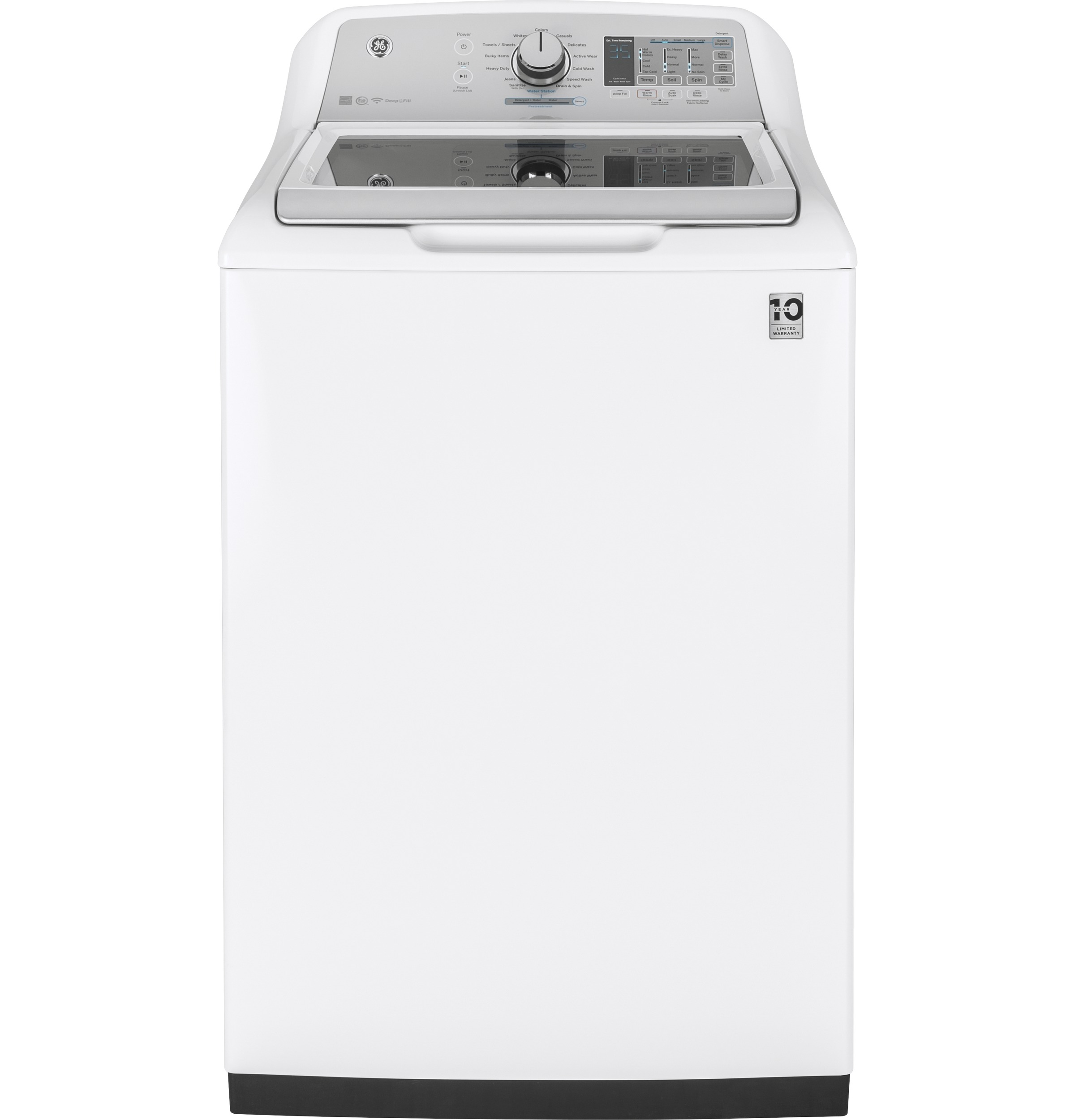 Ge 174 5 0 Cu Ft Capacity Washer With Stainless Steel
