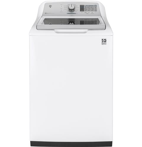 GE® 5.0 DOE  cu. ft. stainless steel capacity washer– Model #: GTW750CSLWS