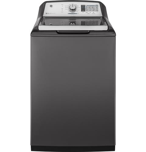 GE® 5.0 DOE  cu. ft. stainless steel capacity washer– Model #: GTW750CPLDG