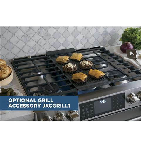Cast-iron integrated griddle