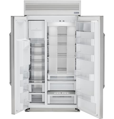 "Thumbnail of Monogram 48"" Built-In Professional Side-by-Side Refrigerator with Dispenser 3"