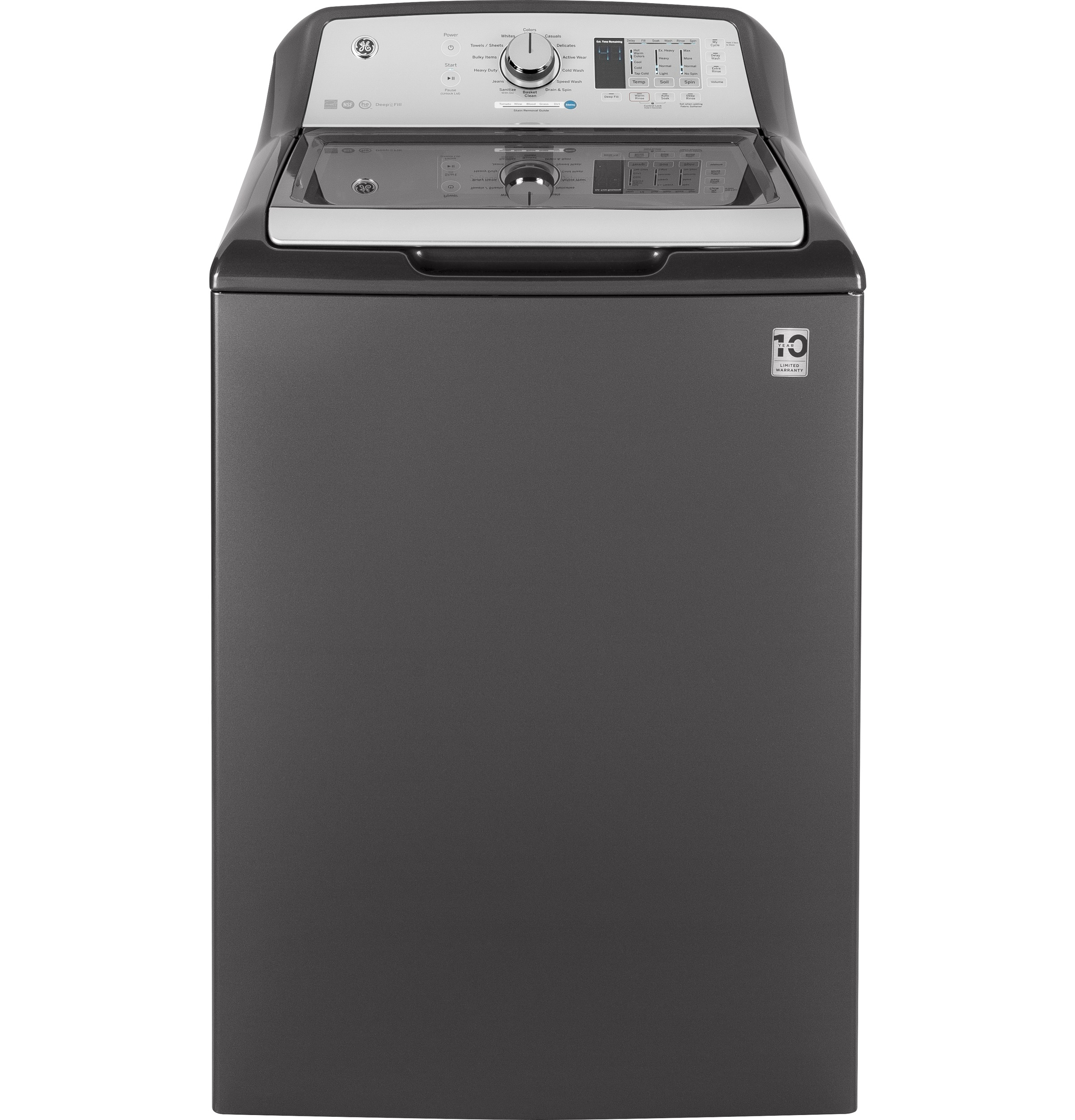 Ge 174 4 5 Doe Cu Ft Capacity Washer With Stainless Steel