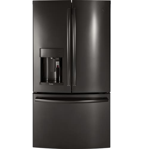 GE Profile™ Series ENERGY STAR® 27.8 Cu. Ft. French-Door Refrigerator with Keurig® K-Cup® Brewing System– Model #: PFE28PBLTS