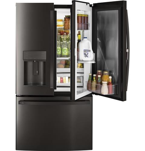 french door refrigerators from ge appliances. Black Bedroom Furniture Sets. Home Design Ideas