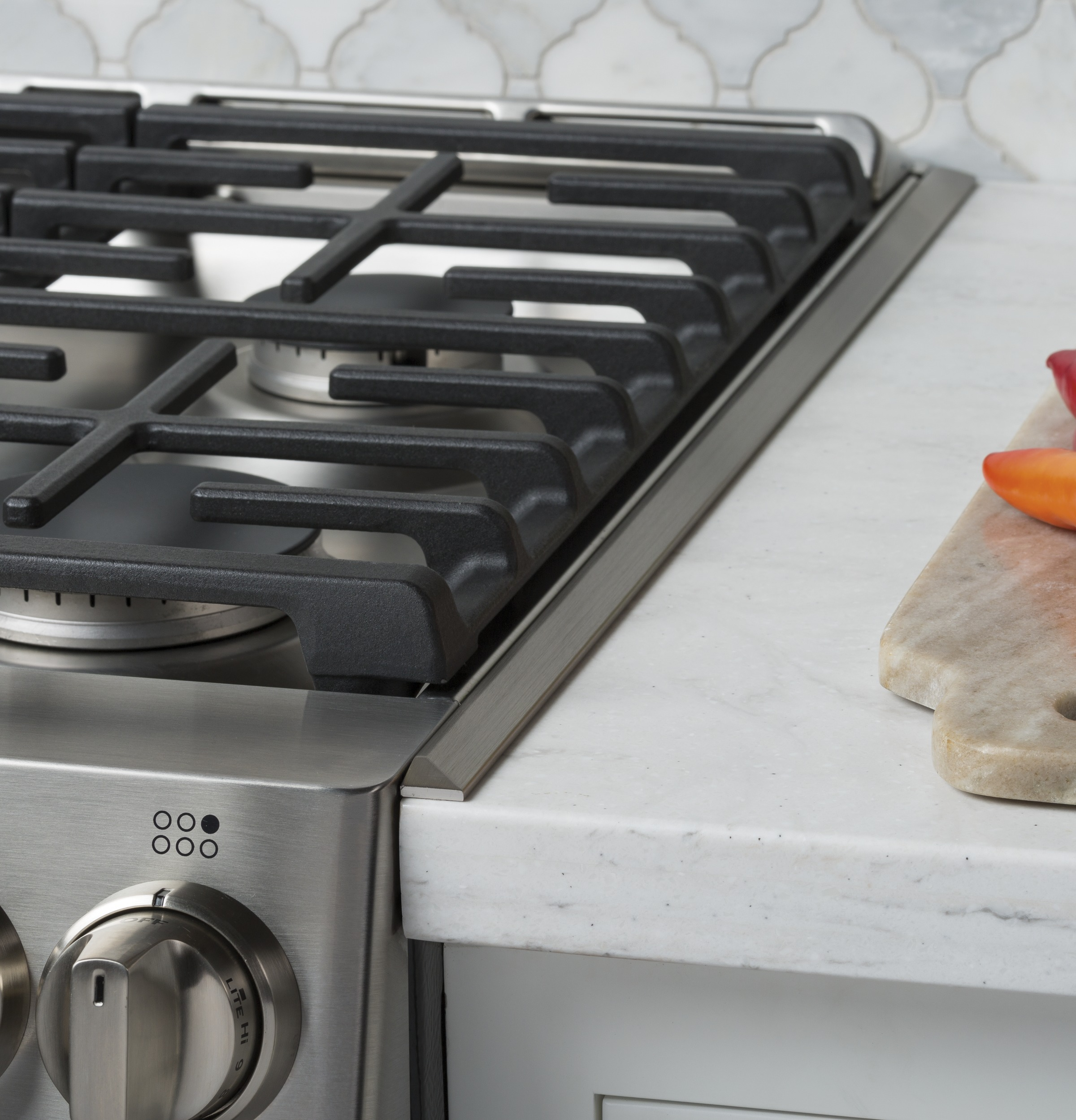 steel in range with new stainless brand of natural kitchen inch cooktop countertop chic interesting built gas monogram