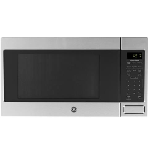 GE® 1.6 Cu. Ft. Countertop Microwave Oven– Model #: JES1657SMSS