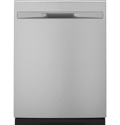 GE® Stainless Steel Interior Dishwasher with Hidden Controls– Model #: GDP695SSMSS