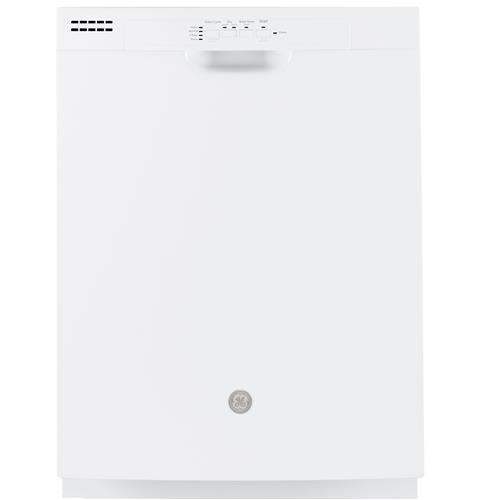 GE® Dishwasher with Front Controls and Power Cord– Model #: GDF511PGMWW