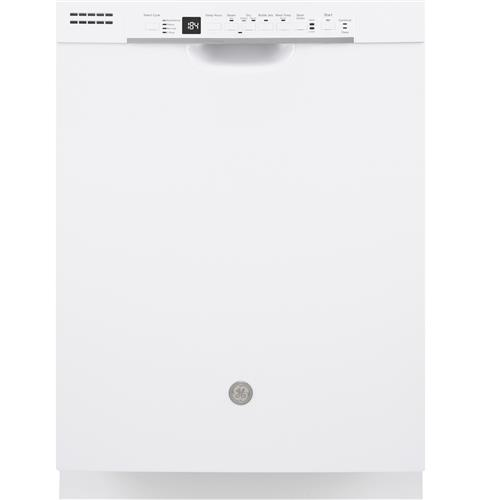 GE® Dishwasher with Front Controls– Model #: GDF630PGMWW