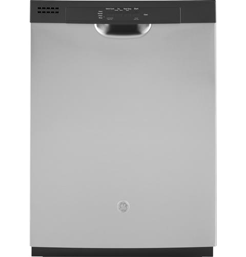 GE® Dishwasher with Front Controls and Power Cord– Model #: GDF511PSMSS