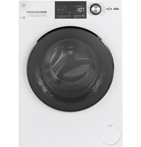 GE® 2.4 DOE Cu. Ft. Frontload Washer with Steam– Model #: GFW148SSMWW
