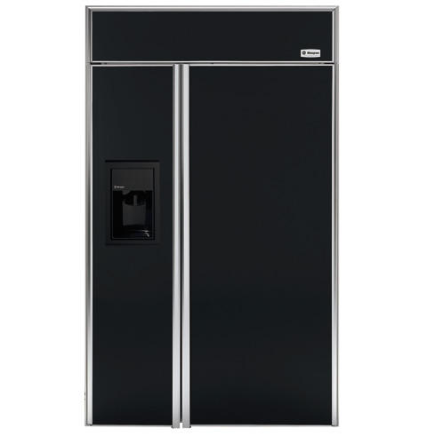 Zisb480dm Ge Monogram 48 Built In Side By Refrigerator With Dispenser Liances