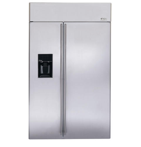 Ziss480drss Ge Monogram 48 Built In Side By Refrigerator With Dispenser Liances