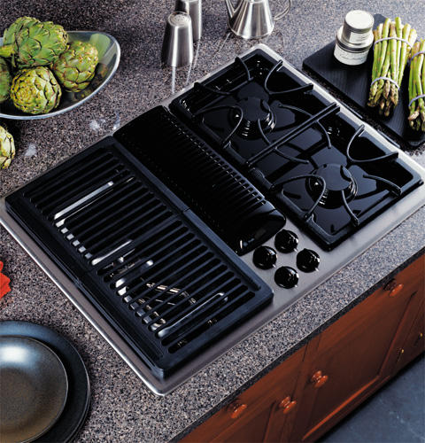 Ge Profile Built In Downdraft Gas Modular Cooktop