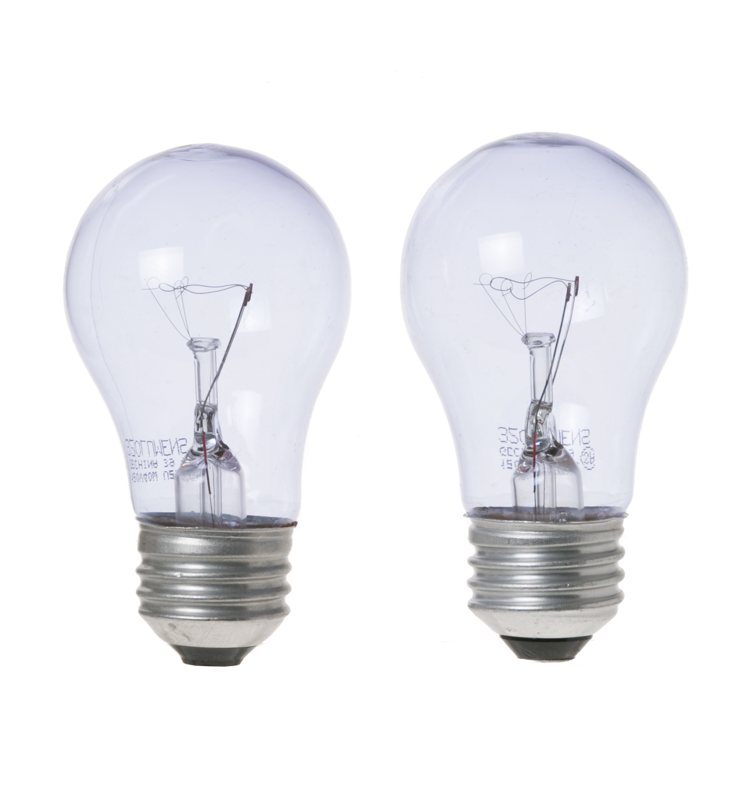 40a15rvl 40 Watt Reveal Appliance Light Bulb 2 Pack The Monogram Collection