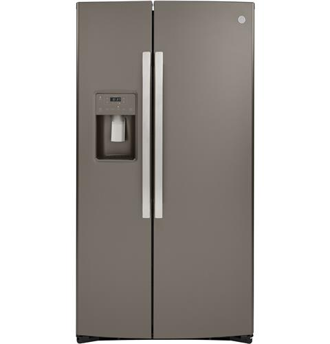GE® 21.8 Cu. Ft. Counter-Depth Side-By-Side Refrigerator– Model #: GZS22IMNES