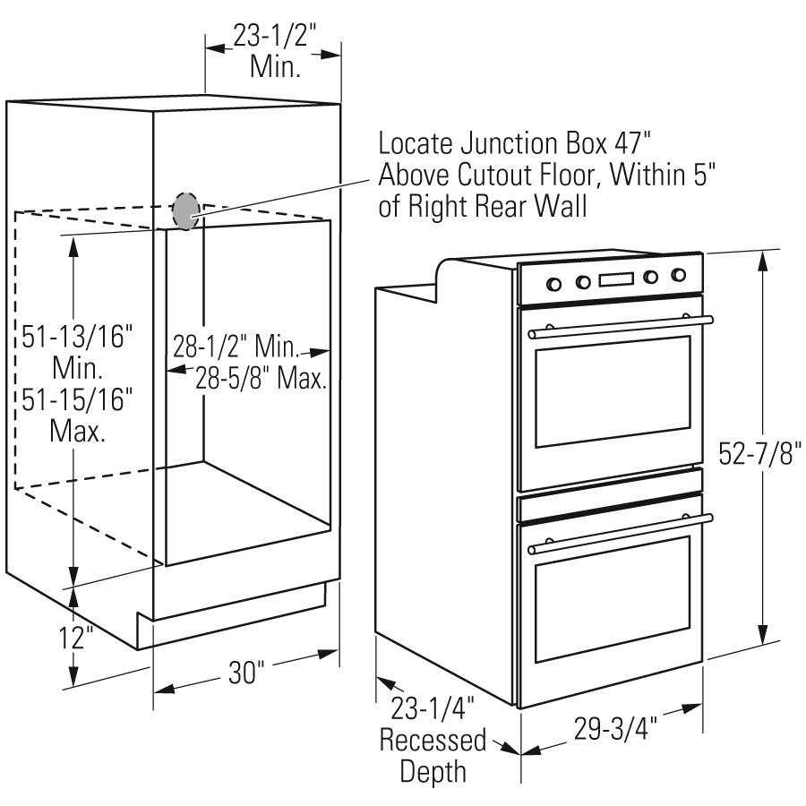 Double Wall Oven Installation Height