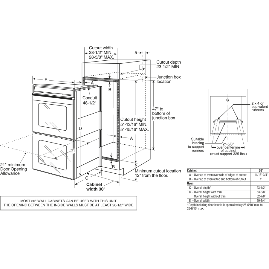 Electric Oven Dimensions