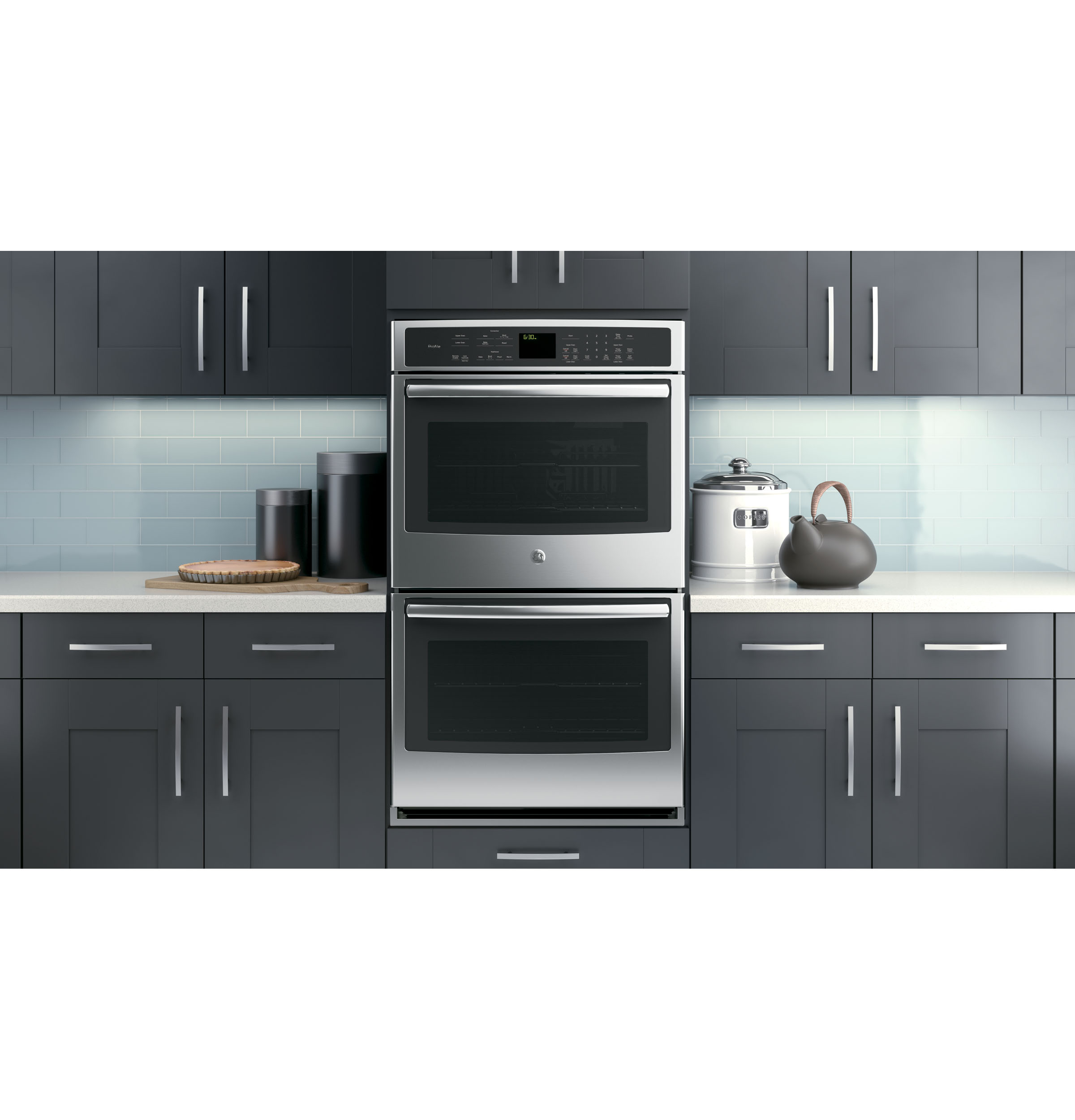 ge profile acirc cent series built in double convection wall oven product image product image