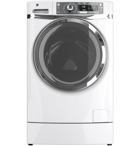 GE® ENERGY STAR® 4.8 DOE cu. ft. capacity RightHeight™ Design Front Load washer– Model #: GFWR4800FWW