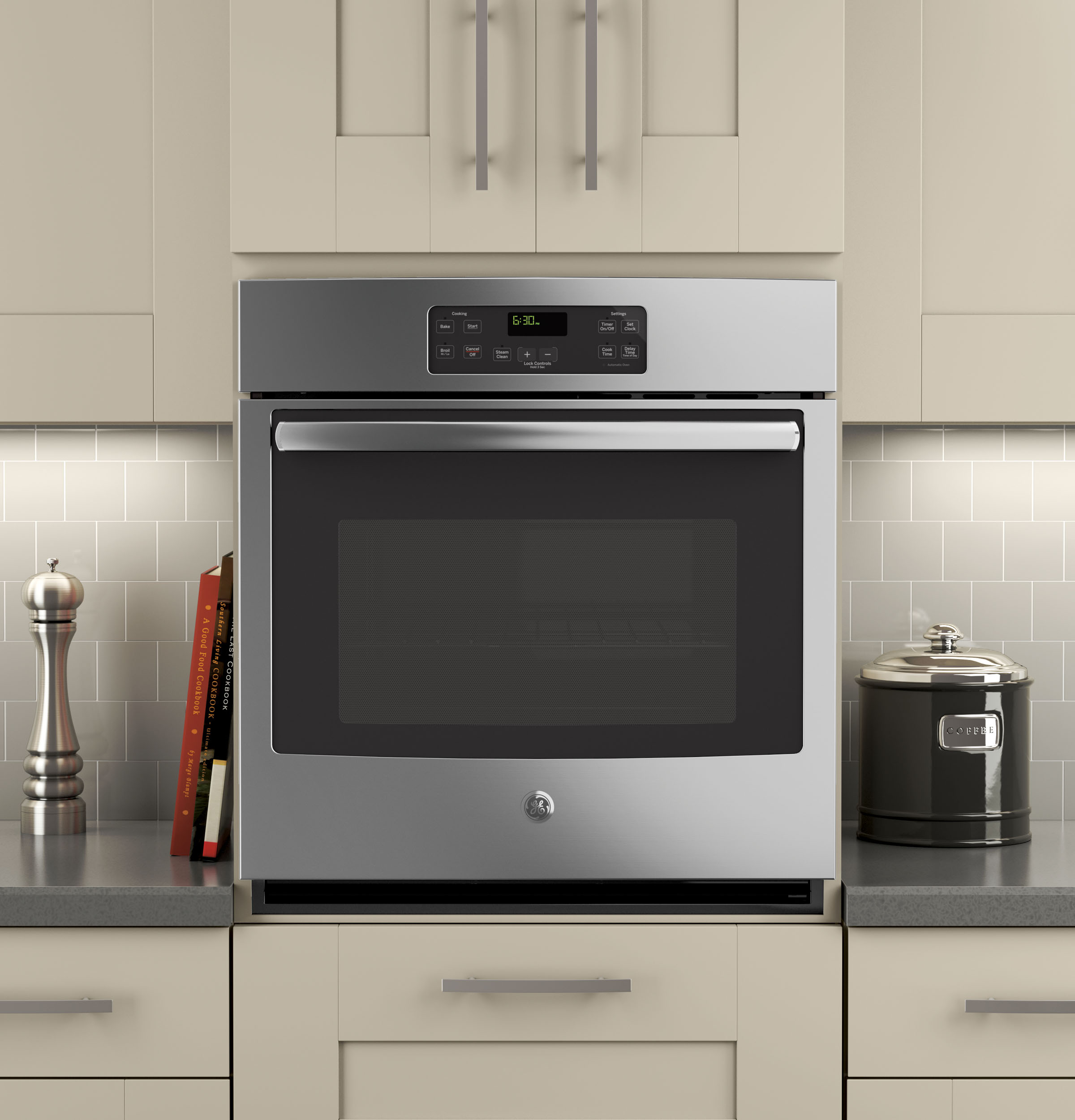 ge® 27 built in single wall oven jk1000sfss ge appliances product image product image