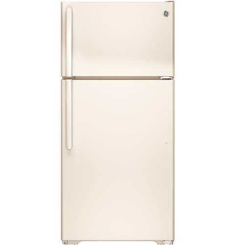 GE® ENERGY STAR® 14.6 Cu. Ft. Top-Freezer Refrigerator– Model #: GTE15CTHRCC