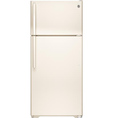 GE® ENERGY STAR® 15.5 Cu. Ft. Top-Freezer Refrigerator– Model #: GTE16DTHCC