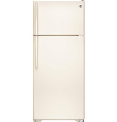 GE® ENERGY STAR® 17.5 Cu. Ft. Top-Freezer Refrigerator– Model #: GIE18GTHCC