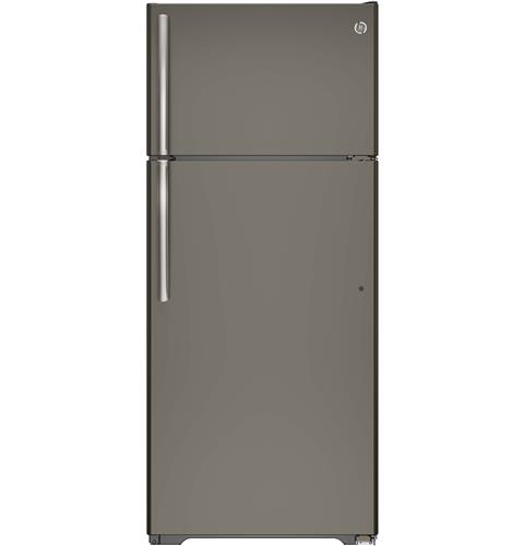 GE® ENERGY STAR® 17.5 Cu. Ft. Top-Freezer Refrigerator– Model #: GTE18GMHES