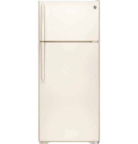 GE® ENERGY STAR® 17.5 Cu. Ft. Top-Freezer Refrigerator– Model #: GTE18CTHCC