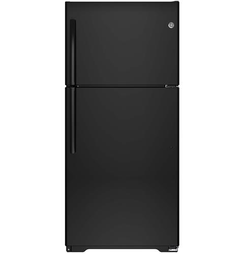 GE® ENERGY STAR® 18.2 Cu. Ft. Top-Freezer Refrigerator– Model #: GTE18ITHBB