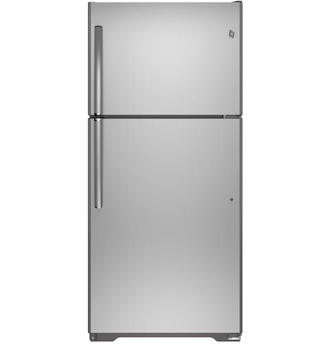 GE® ENERGY STAR® 18.2 Cu. Ft. Top-Freezer Refrigerator– Model #: GIE18ISHSS
