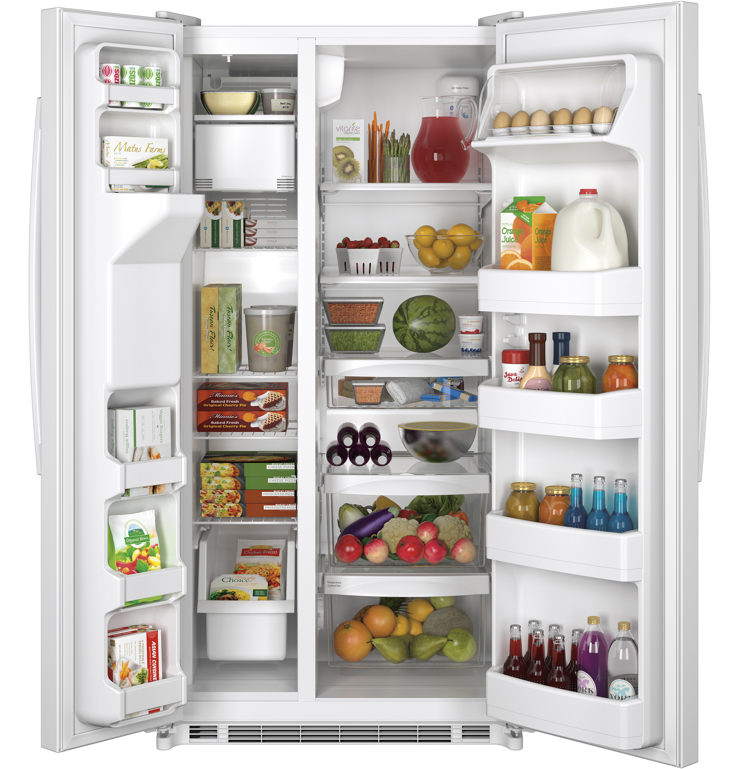 Ge Energy Star 218 Cu Ft Side By Refrigerator Gse22ethww Wire Diagram For Model 22 25 Product Image