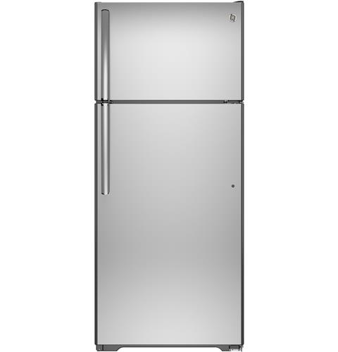 GE® 17.5 Cu. Ft. Top-Freezer Refrigerator with Autofill Pitcher– Model #: GAS18PSJSS