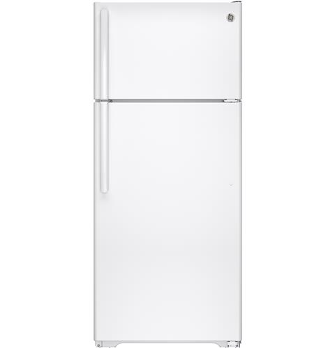GE® Series 17.5 Cu. Ft. Top-Freezer Refrigerator with Autofill Pitcher– Model #: GAS18PGJWW