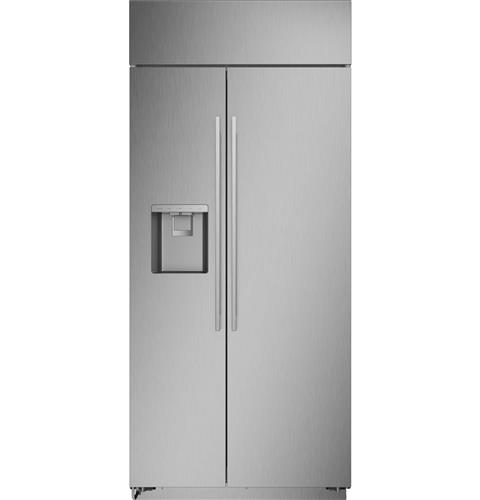 """Thumbnail of Monogram 36"""" Smart Built-In Side-by-Side Refrigerator with Dispenser 1"""